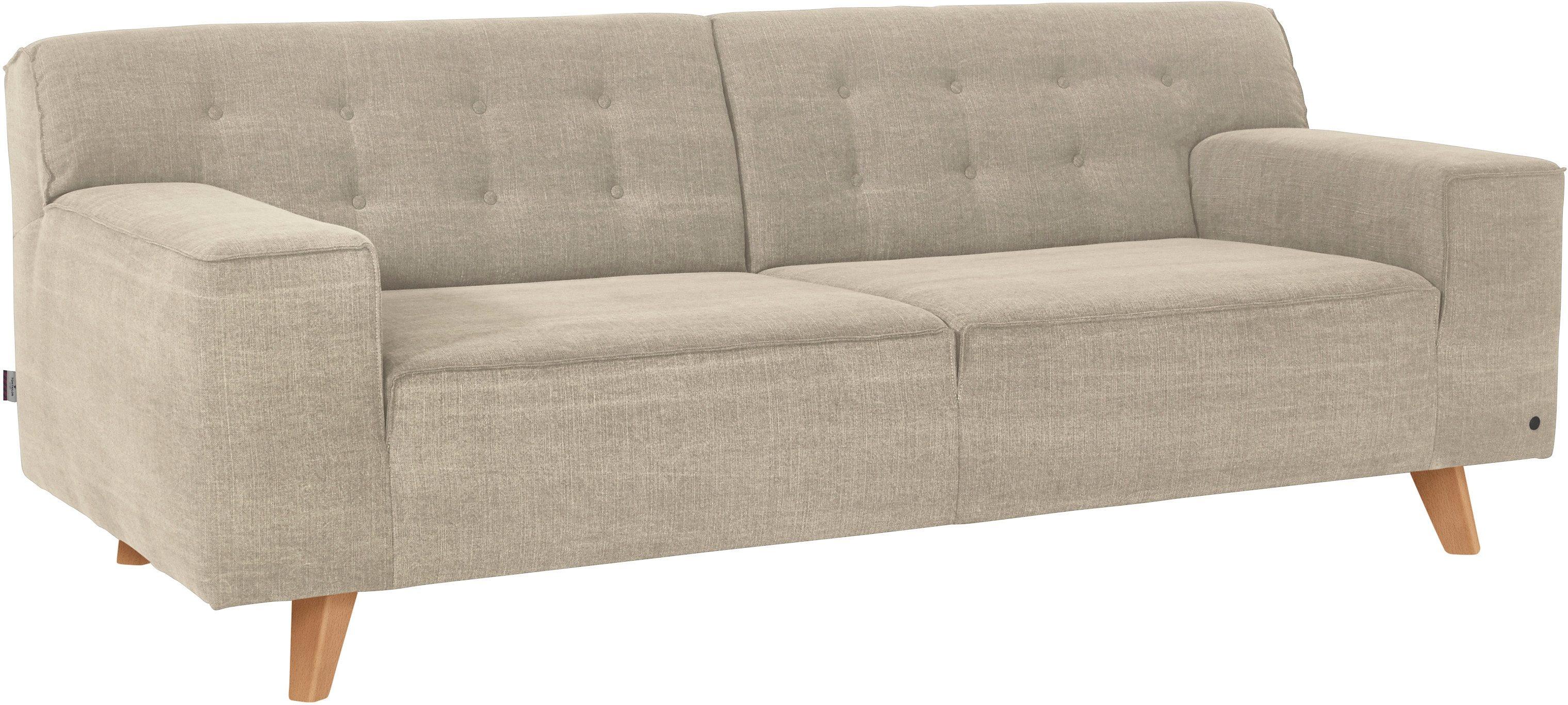 TOM TAILOR 2-Sitzer Sofa »NORDIC CHIC« im Retrolook, Füße Buche natur