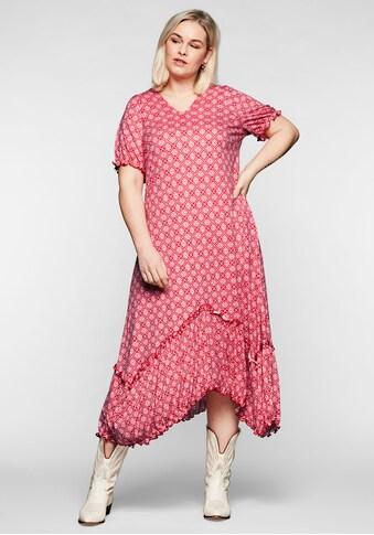 Sheego Jerseykleid, in Zipfelform kaufen