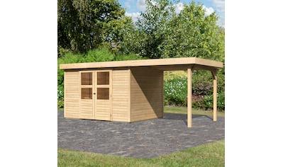 KONIFERA Set: Gartenhaus »Engelsee 5«, BxT: 554x262 cm, mit Anbaudach kaufen