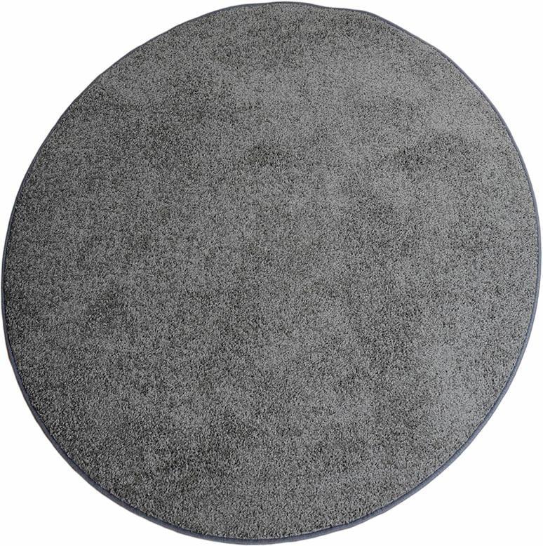 Living Line Teppich Shaggy Pulpo, rund, 22 mm Höhe, Teppich, Wohnzimmer grau Esszimmerteppiche Teppiche nach Räumen