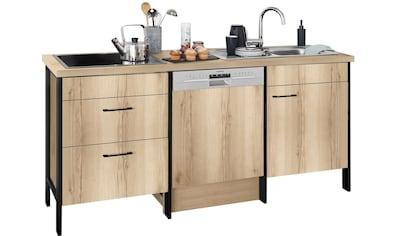 OPTIFIT Küchenzeile »Tokio«, ohne E-Geräte, Breite 192 cm, mit Stahlgestell, mit... kaufen