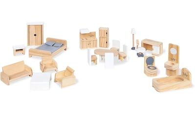 """Pinolino® Puppenhausmöbel """"Puppenhauseinrichtung aus Holz"""", (Set, 20 - tlg.) kaufen"""