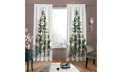 my home Vorhang »LED-Tannenbaum«, HxB: 230x140, LED-Lichter kaufen