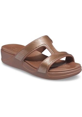 Crocs Pantolette »Crocs Monterey Metallic«, mit Bandage im Metallic Look kaufen
