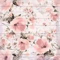 queence Holzbild »Verwaschene Rosa Blumen«, 40x40 cm