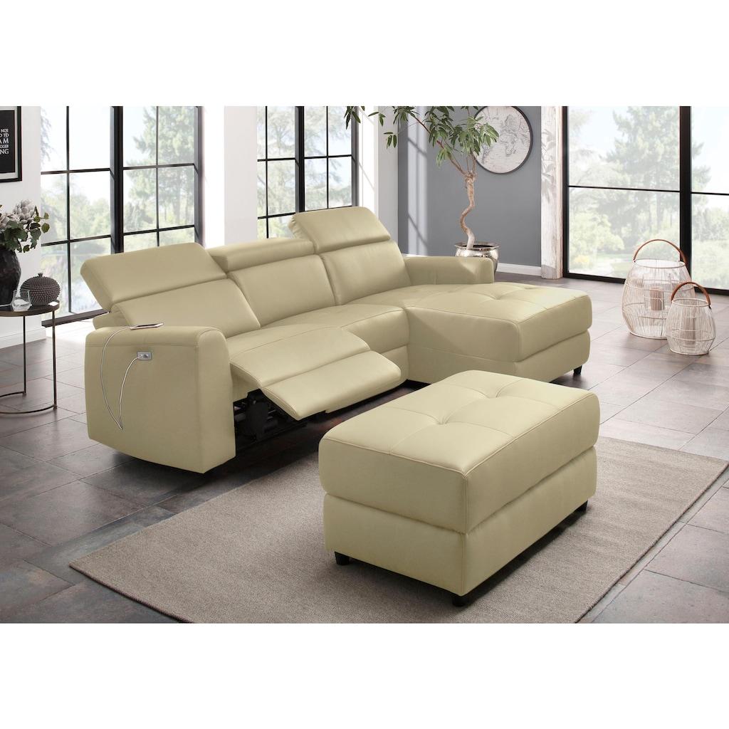 Home affaire Polsterhocker »Sentrano + Kilado«, in 4 hochwertigen Bezugsqualitäten erhältlich, mit komfortablen Federkern, Gesamtbreite 99 cm