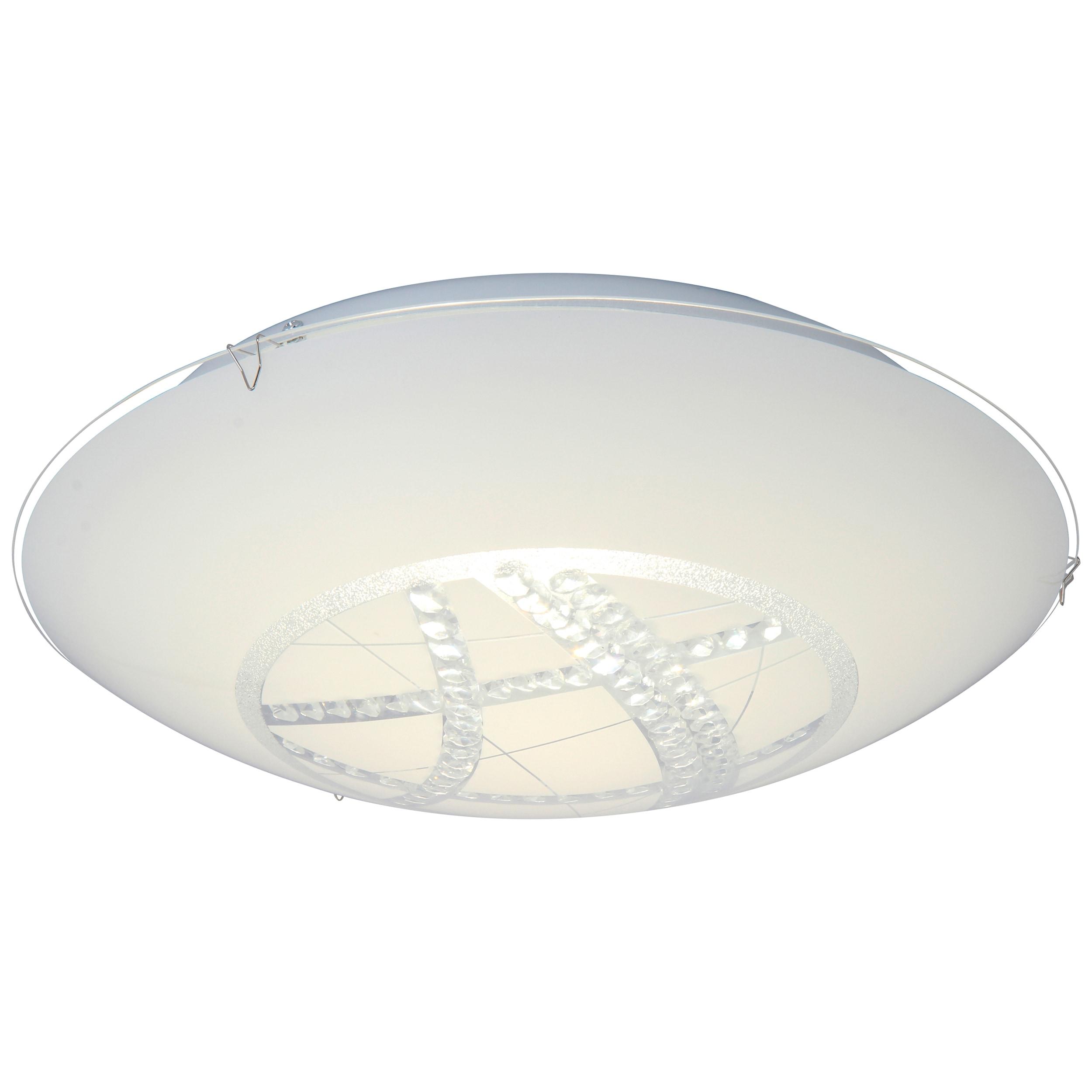 Brilliant Leuchten Lamio LED Wand- und Deckenleuchte 40cm weiß/transparent