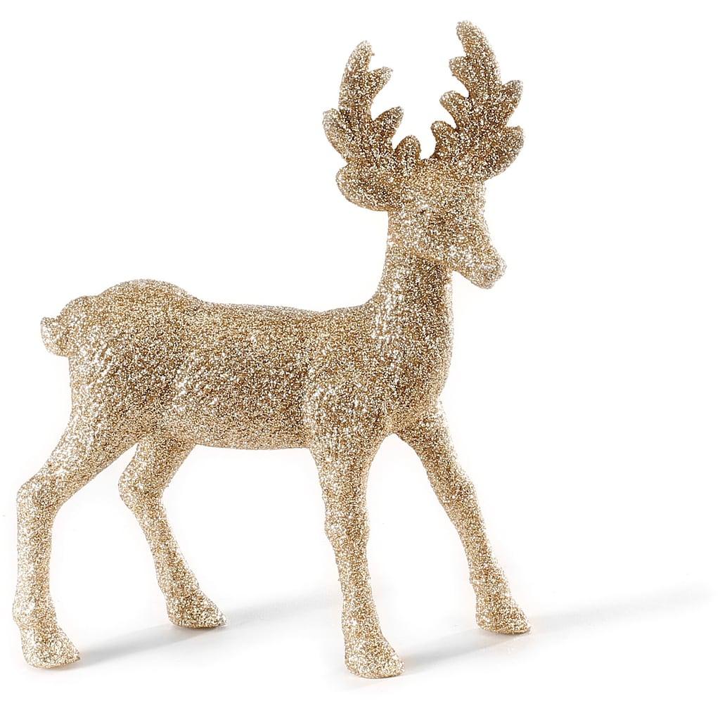 CHRISTMAS GOODS by Inge Dekofigur »Hirsch«, goldfarben