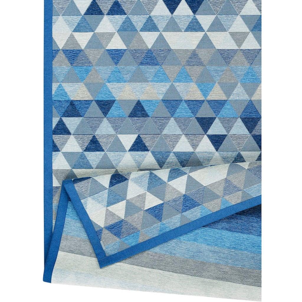 andas Teppich »Eltje«, rechteckig, 7 mm Höhe, Wendeteppich mit zwei Designs, Wohnzimmer