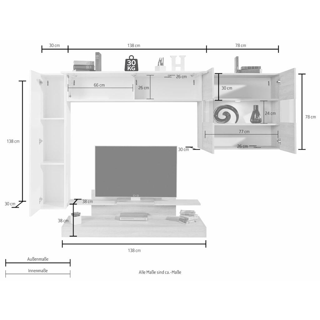 LC Wohnwand »Nice« (Set, 4-tlg)