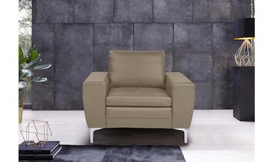 Places of Style Sessel »Twigo«, in Echtleder, mit hohem Sitzkomfort kaufen
