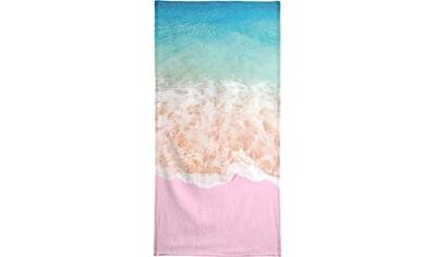 Juniqe Strandtuch »Pink Sand«, (1 St.), Weiche Frottee-Veloursqualität kaufen