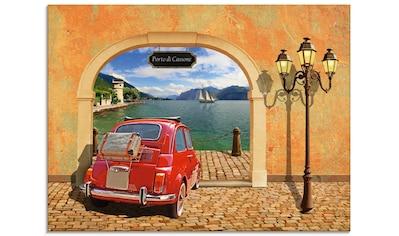 Artland Glasbild »Kleiner italienischer Hafen« kaufen