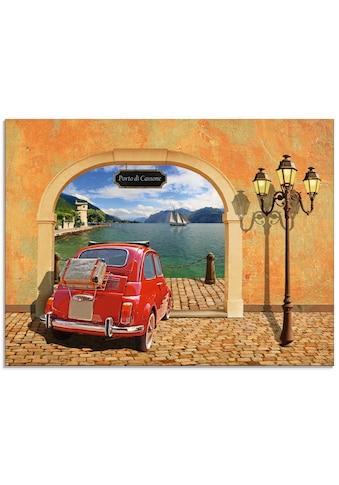 Artland Glasbild »Kleiner italienischer Hafen«, Auto, (1 St.) kaufen
