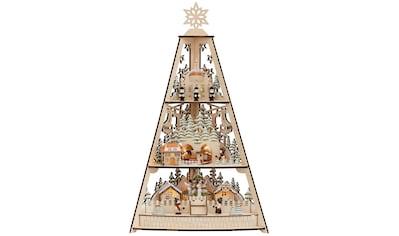 my home LED Dekoobjekt »Deniz«, 1 St., Warmweiß, LED Lichter Pyramide aus Holz, mit... kaufen