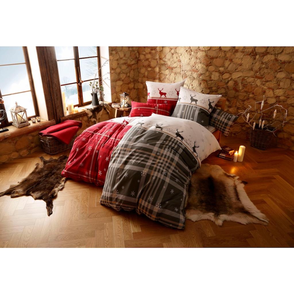 my home Bettwäsche »Wenda«, im winterlichen Karo-Design