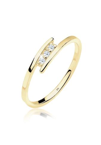 Diamore Diamantring »Verlobungsring Trio Diamant 0.06 ct. 375 Gelbgold« kaufen