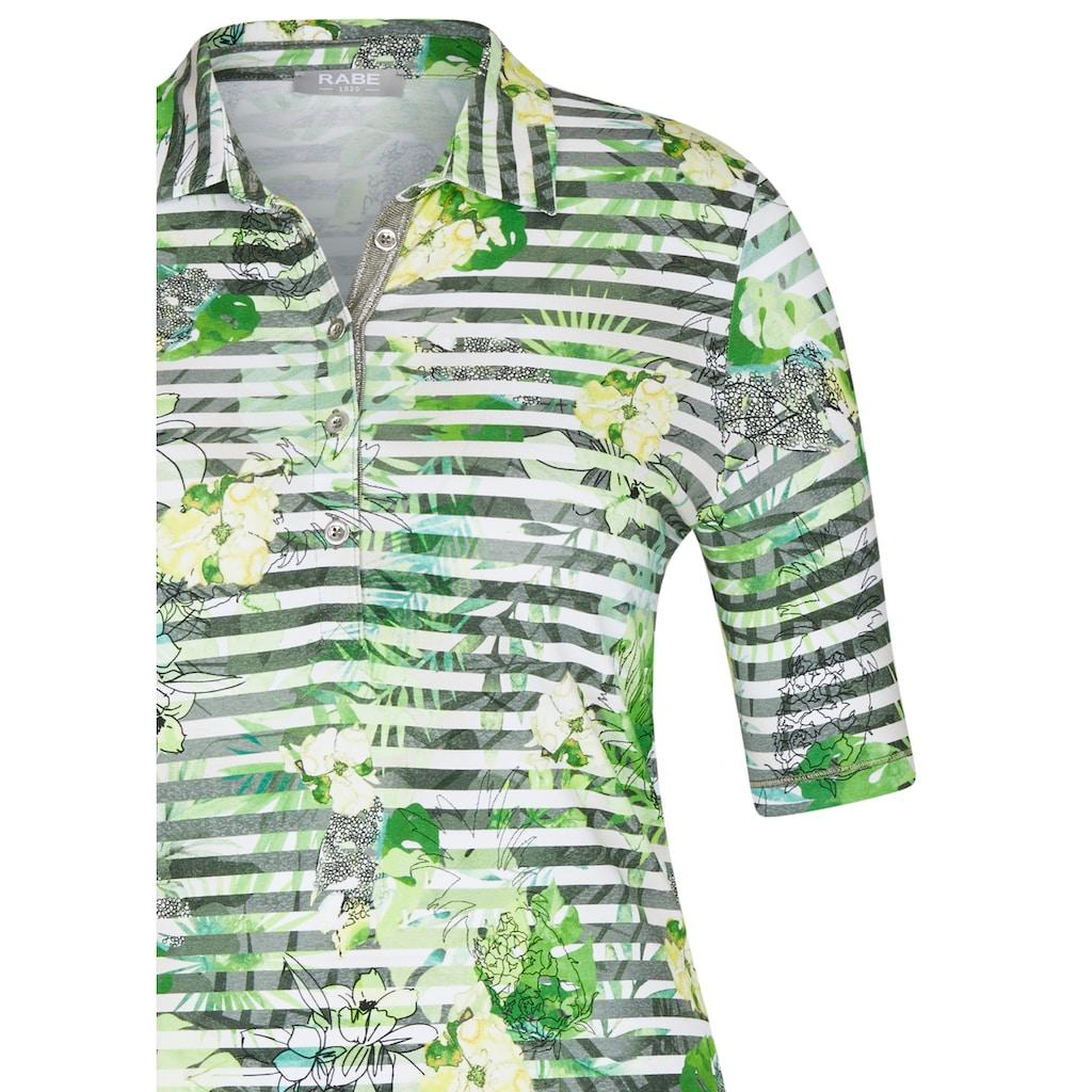 Rabe Poloshirt, mit geringeltem Muster