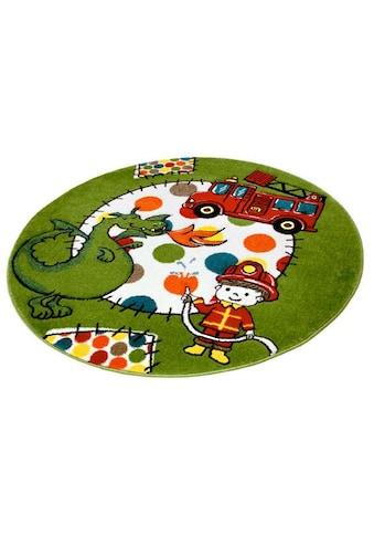 Kinderteppich, »Momo Feuerwehr«, Festival, rund, Höhe 13 mm, maschinell gewebt kaufen