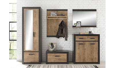 my home Garderoben - Set »BRÜGGE« (Komplett - Set, 5 - tlg bestehend aus Garderobenschrank mit Spiegel, Kommde, Spiegel, Garderobenbank und  - paneel) kaufen