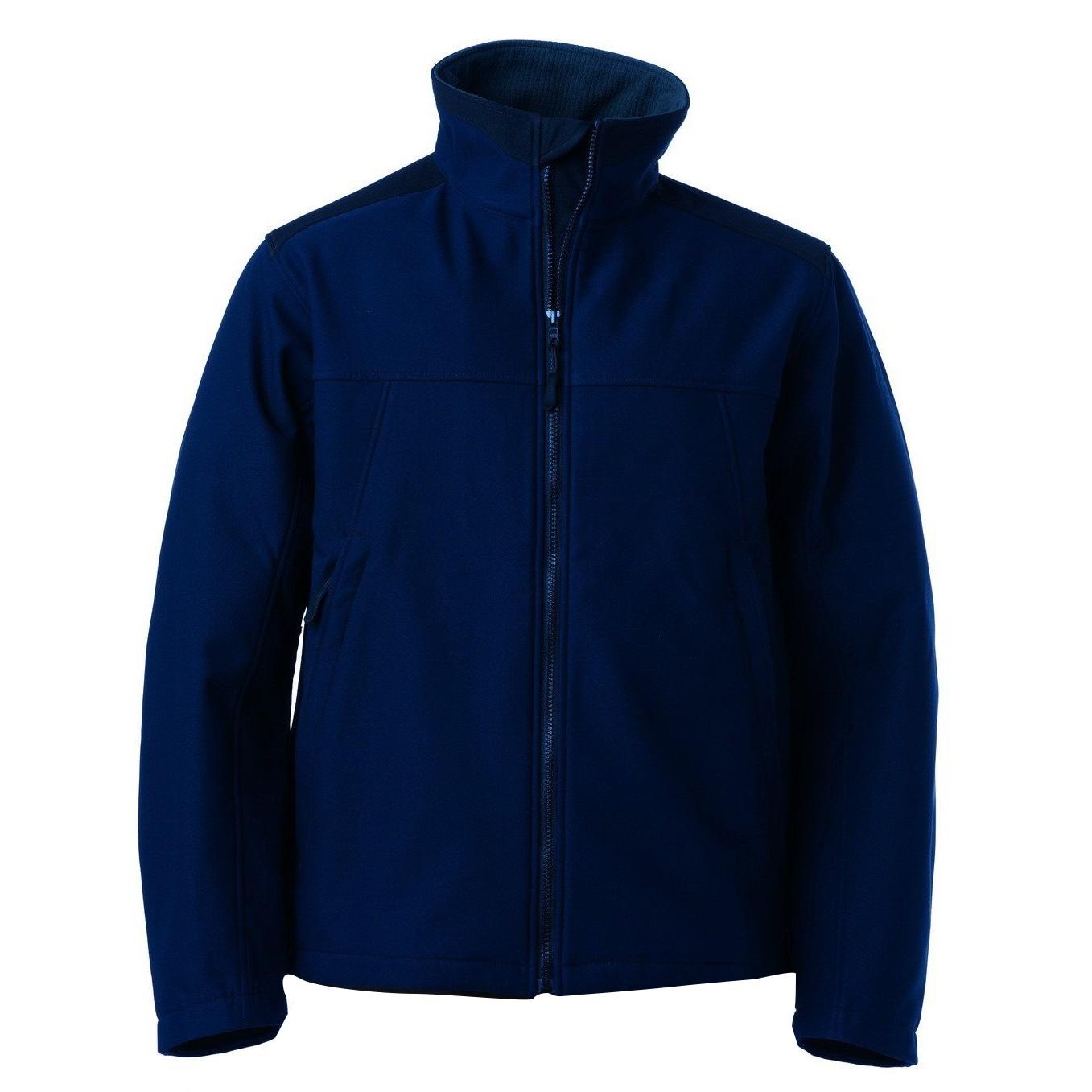 Russell Softshelljacke Workwear Herren Softshell Membran-Jacke wasserabweisend atmungsaktiv   Sportbekleidung > Sportjacken   Blau   Nylon - Fleece
