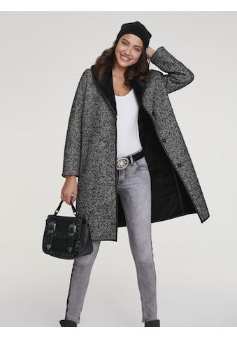 Mantel mit Webpelz - Kragen kaufen