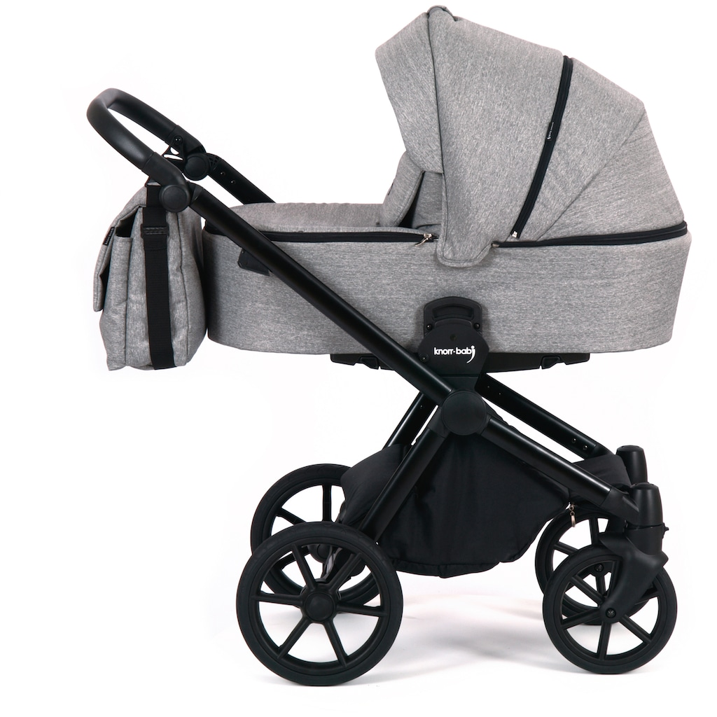 Knorrbaby Kombi-Kinderwagen »Life+ 2.0, Graphit«, 15 kg, Gestell faltbar; Made in Europe; Kinderwagen
