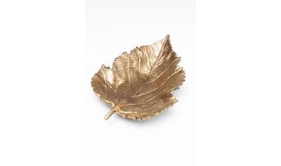 KARE Dekoschale »Leaf Gold« kaufen