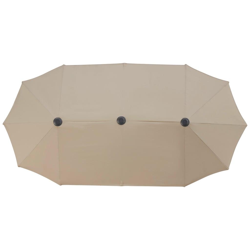 garten gut Sonnenschirm »Malaga«, Inkl. Schutzhülle, ohne Schirmständer