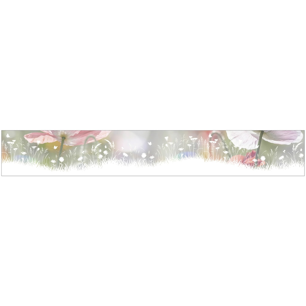MySpotti Fensterfolie »Look Living Meadow«, halbtransparent, glattstatisch haftend, 200 x 30 cm, statisch haftend