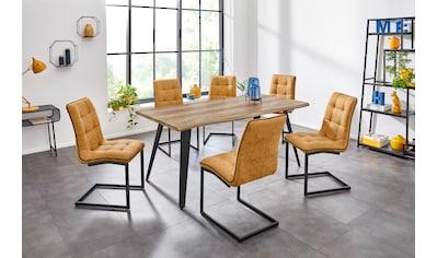 INOSIGN Esstisch »Nura«, mit einem schwarz lackiertem Metallgestell, Tischplatte mit... kaufen