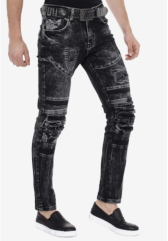 Cipo & Baxx Slim-fit-Jeans, im Used-Destroyed-Look in Straight Fit kaufen