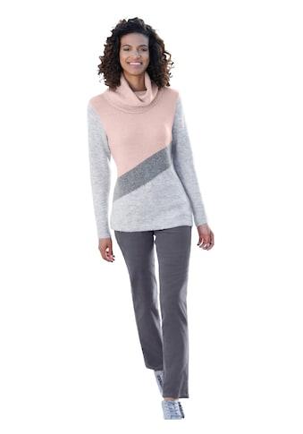 Casual Looks Pullover in effektvoller Colour - Blocking - Optik kaufen