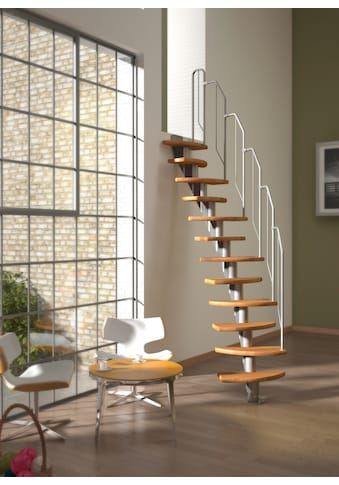 DOLLE Systemtreppe »Berlin«, Metallgeländer und  - handlauf, Buche, BxH: 64x315 cm kaufen