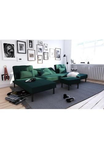 COLLECTION AB Wohnlandschaft, inklusive Bettfunktion, mit eleganter Steppung im... kaufen