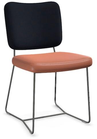 bert plantagie Stuhl »KIKO-PLUS K12«, 2-Set in Bi-Color Stoff-Leder, Hollywood/Tendens kaufen