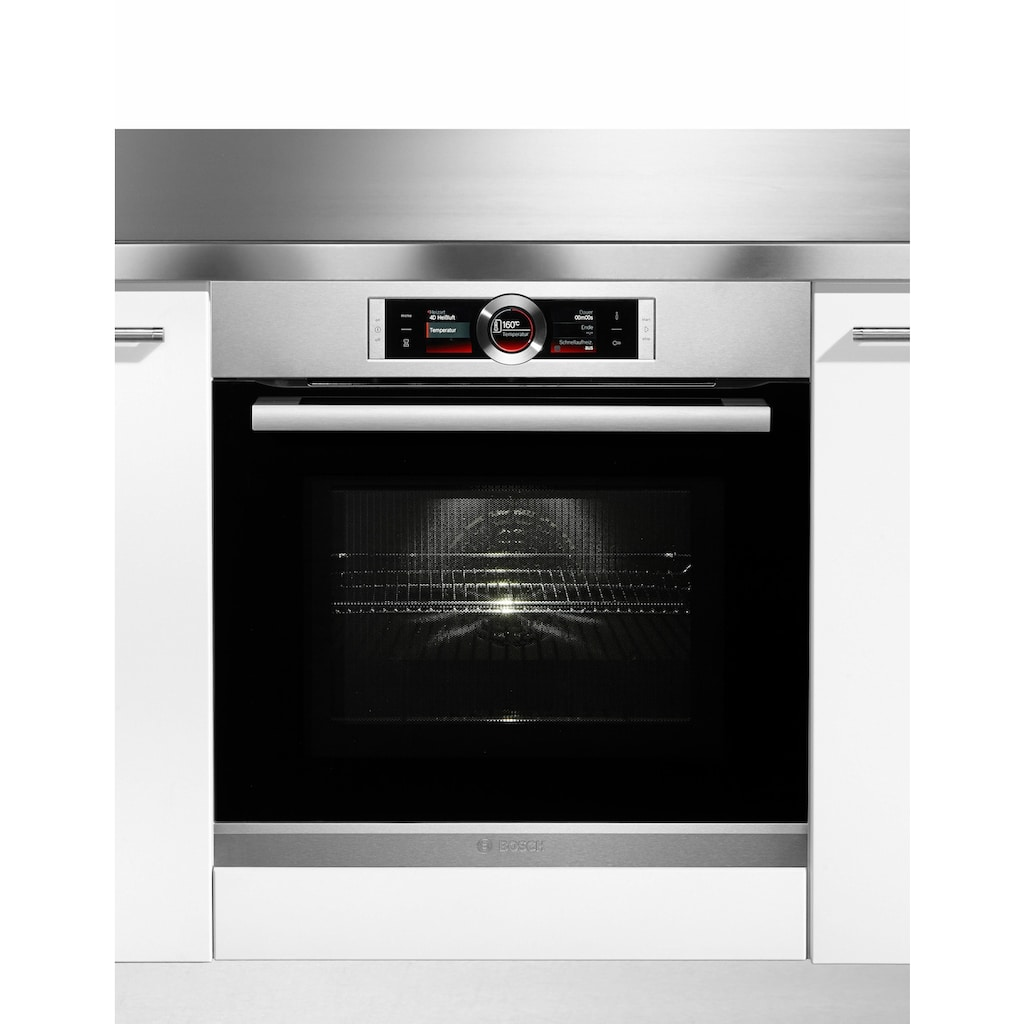 BOSCH Backofen mit Mikrowelle »HMG636RS1«, Serie 8, HMG636RS1, mit Vollauszug, ecoClean Direct, mit 4D Heißluft