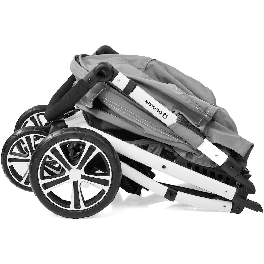 Gesslein Kinder-Buggy »S4 Air+ White, Schwarz/Weiß«, mit schwenkbaren Vorderrädern; Kinderwagen, Buggy, Sportwagen, Sportbuggy, Kinderbuggy, Sport-Kinderwagen