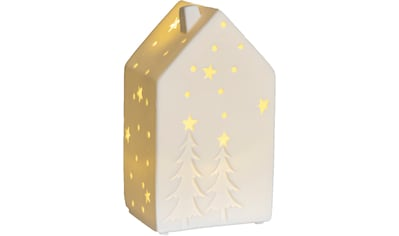 VALENTINO Wohnideen LED Dekoobjekt »Lichthaus Motiva«, Warmweiß, aus Porzellan, mit Baummotiv kaufen