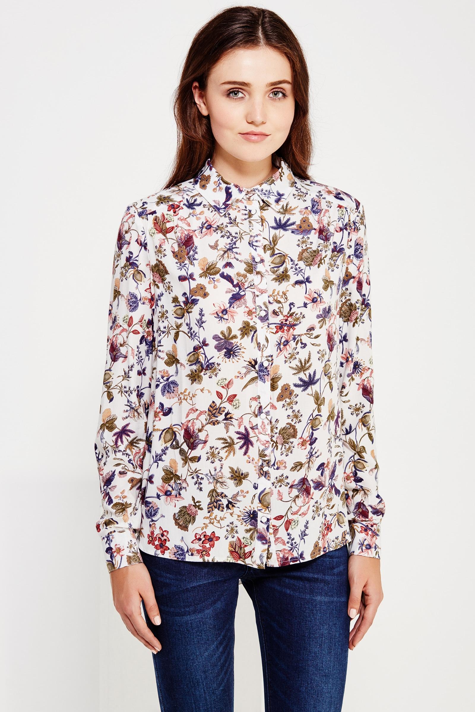 Finn Flare Bluse mit schickem Blüten-Print