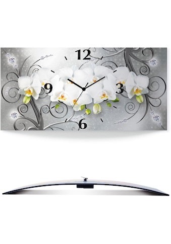 Artland Wanduhr »weiße Orchideen auf Ornamenten«, in vielen Größen & Produktarten -... kaufen