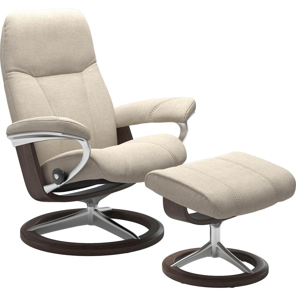 Stressless® Relaxsessel »Consul«, mit Hocker, mit Signature Base, Größe M, Gestell Wenge