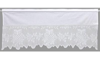 HOSSNER - ART OF HOME DECO Querbehang »Eule«, handgehäkelte Spitze, weiß, Baumwolle kaufen