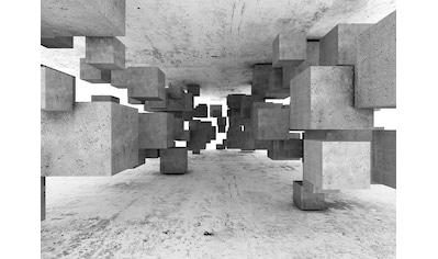 LIVINGWALLS Fototapete »Designwalls Concrete Tetris«, Premium Vlies kaufen