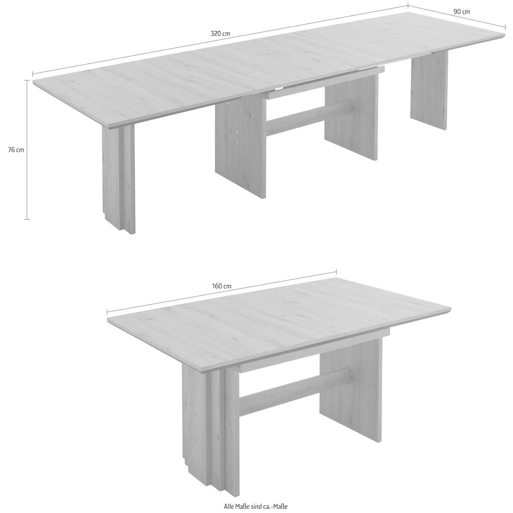 NIEHOFF SITZMÖBEL Esstisch »Menorca«, Tischplatte mit schwarzem Design-Unterleimer