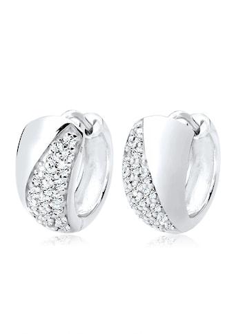 Elli Paar Creolen »Creolen Elegant Kristalle Silber« kaufen