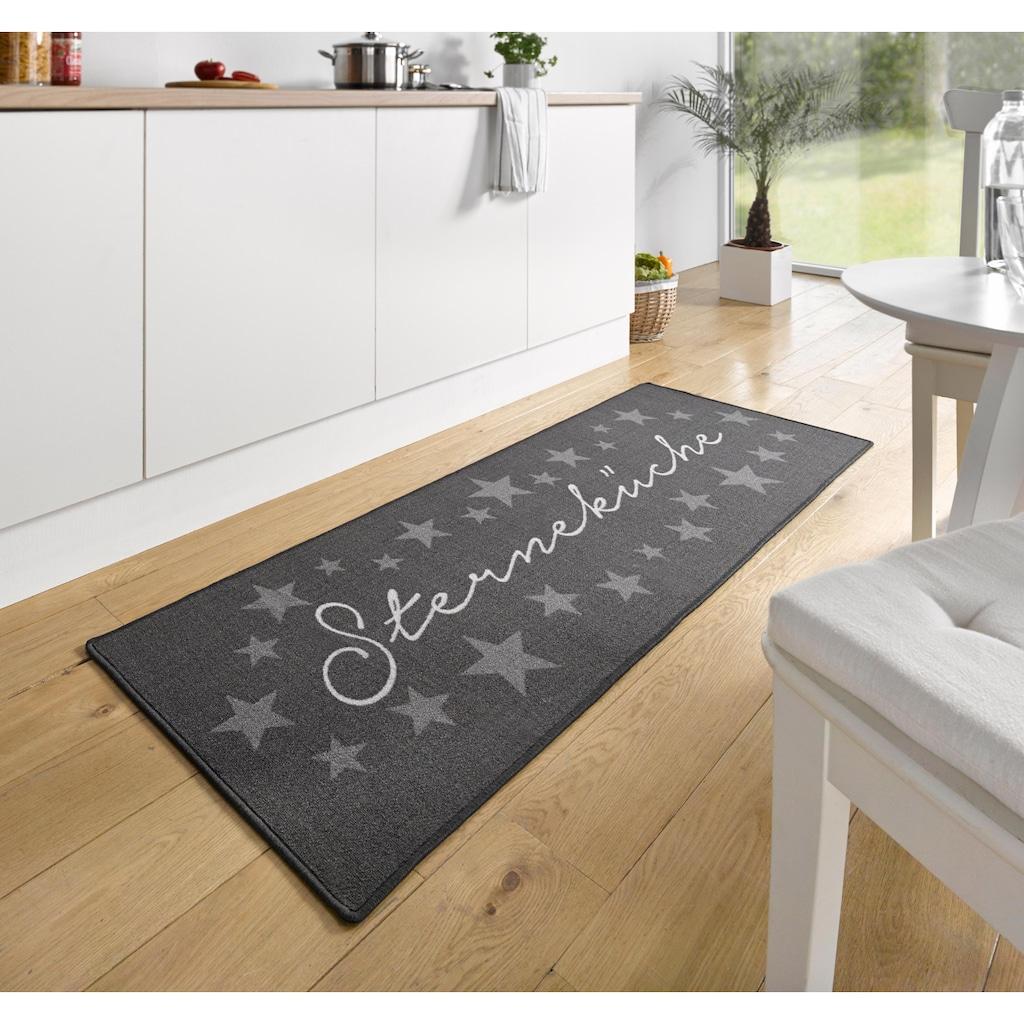 HANSE Home Küchenläufer »Sterneküche«, rechteckig, 8 mm Höhe, mit Schriftzug