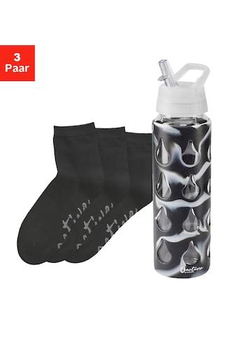LASCANA ACTIVE Kurzsocken Black Marble (Flasche, 3 Paar) kaufen