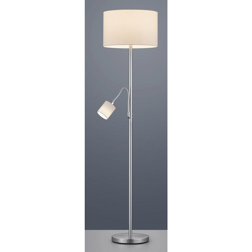 TRIO Leuchten Stehlampe »Hotel«, E27-E14, mit flexibel einstellbarer Leseleuchte, getrennt schaltbar