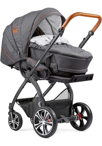 Gesslein Kombi-Kinderwagen »FX4 Classic, schwarz/tabak mit Tragetasche C4 Next, grau... kaufen